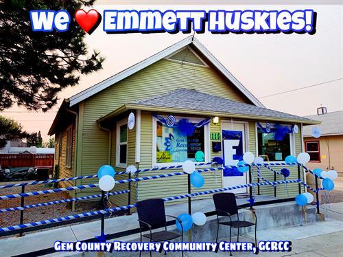 We ?? The Emmett Huskies! We decorated for EHS Homecoming Week 2020! Go Huskies!