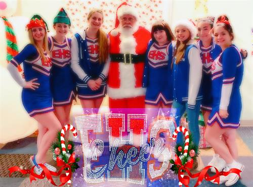 Emmett High School Cheer Squad at our annual Christmas event, Candy Cane Lane (2019).