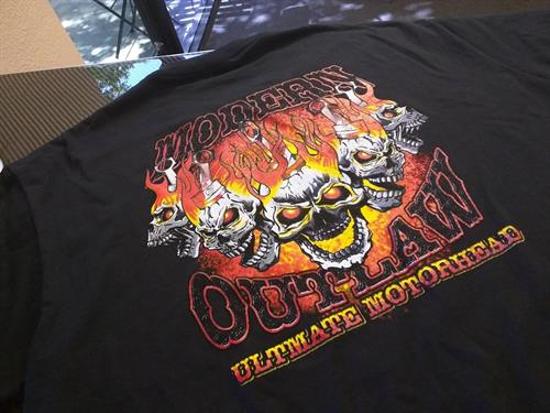 Custom T-shirt by Vicci Moto- Modern Outlaw
