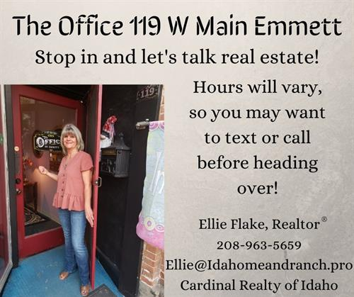 Stop by The Office 119 W Main and let's talk real estate!