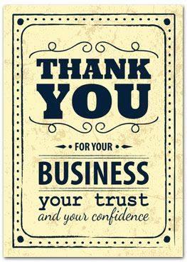 I appreciate my Clients!
