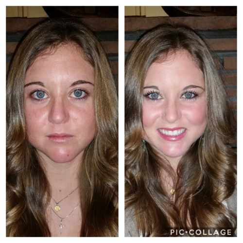 just a little skincare and color makes a difference!