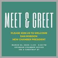 POSTPONED: Meet & Greet for New Chamber President, Dan Robison