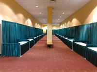 Teal Pipe and Drape Booths