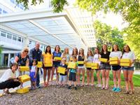 PHS Ladie Knight's Soccer Team Service Project for Northwest Community Hospital