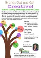 Summer Art Classes for Kids Ages 3-6 and 7-10!