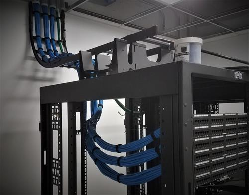 Network rack wire management.