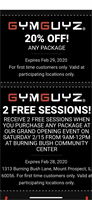 GYMGUYZ North Shore Grand Opening