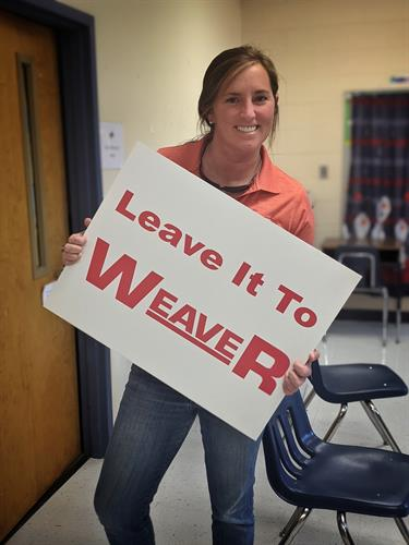 Jessie at Allatoona Elementary Staff Luncheon sponsored by Weaver Heating & Air.