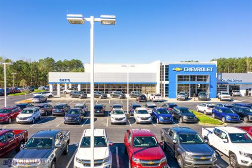 Days Chevrolet- Automotive site Acworth, GA that includes showroom, service center, quick lube, and offices