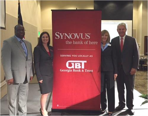 Synovus CEO, Kessel Stelling (far right), with local Synovus bankers after speaking at the Cartersville-Bartow Chamber of Commerce Quarterly Luncheon 4Q2016