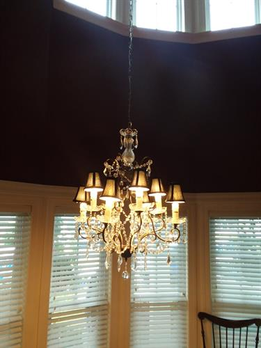 light fixture install on 20' ceiling