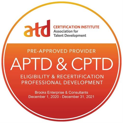 We are an ATD CI re-certification provider