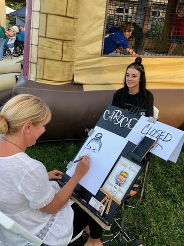 Cruise in Caricature artist- lots of fun!!