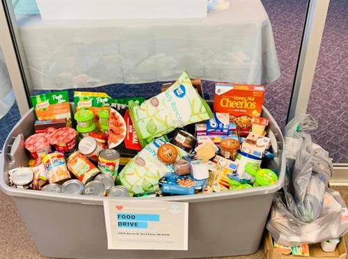 A huge THANK YOU to everyone who donated. Because of you, we donated 304 non perishable foods to Preble County Food Bank! ?? #togetherwecanmakeadifference