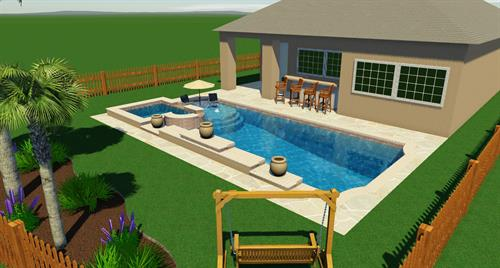Pool with Spa and Sunshell