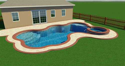 Pool with Spa, Sunshell, no Waterfalls