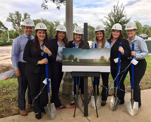 Our leadership team celebrating the ground breaking of our future home on Oviedo Blvd!