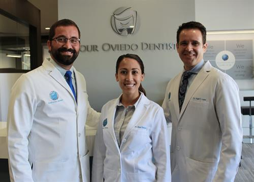 Our doctor team. From left to right, Dr. Leandro Colon, Dr. Ann Delman and Dr. Angel Lopez