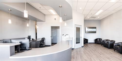 Woodburn Modern Dental Waiting Room and Reception