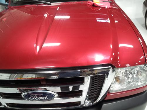 Hood after, dent free!