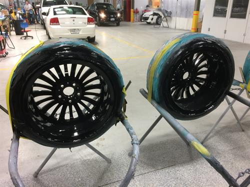 Custom BMW Wheel Paint Inside