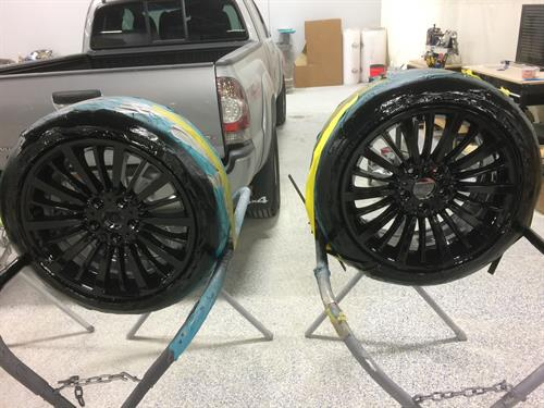 Custom BMW Wheel Paint Outside