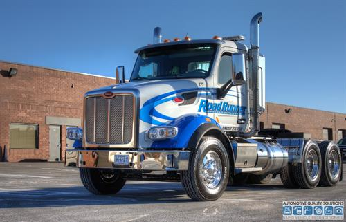 Commercial application of Opti-Coat, big rig Peterbilt!