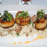 Chef's Scallop and Risotto Entrée