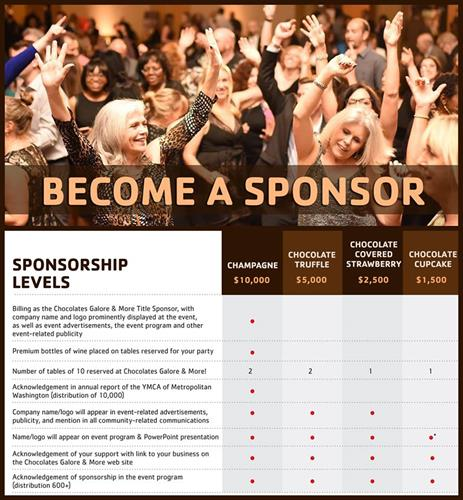 Chocolates Galore and More Sponsorship Opportunities