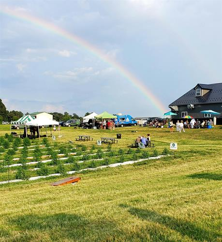 Rainbow to kick off one of our summer events