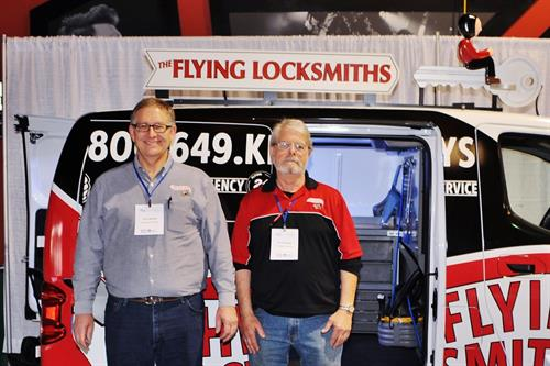 Larry Backes, Owner and Lee Canapetti, Locksmith