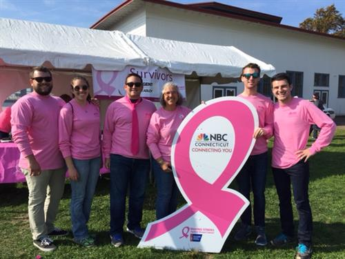 The NBC Connecticut team walks in Making Strides Against Breast Cancer 2016