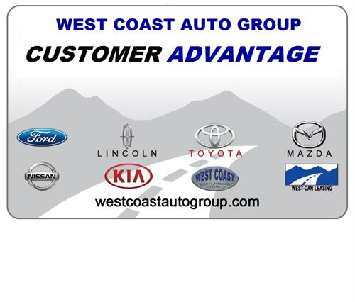 West Coast Auto Group Customer Advantage Card