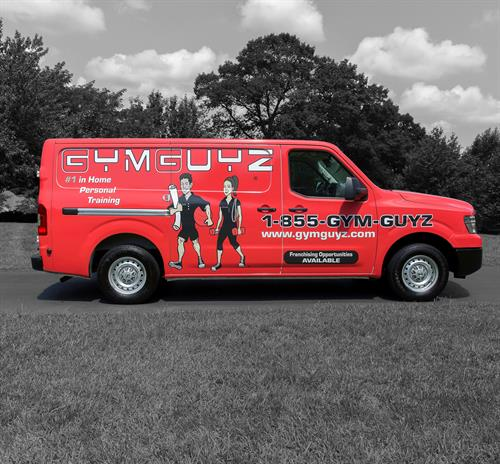 The GYMGUYZ  vans are stocked with over 300 pieces of equipment that we bring to you. No more Excuses