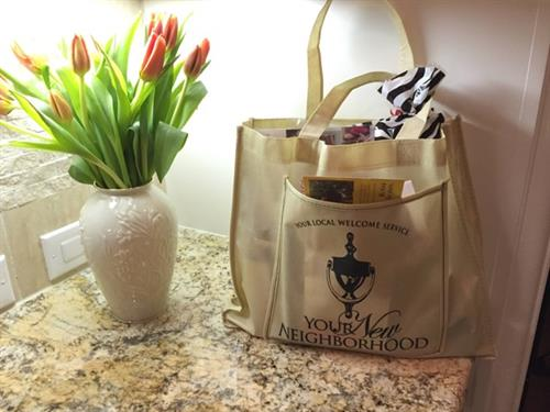 Welcome Bag Presented to New Homeowners