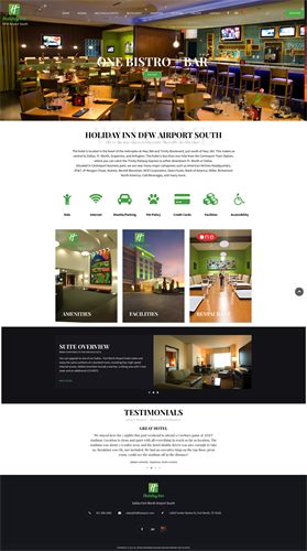 Web Design & Development for Holiday Inn Hotels  http://hidfwairport.com