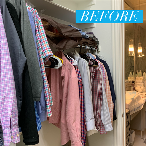 Closet (His & Hers): Before