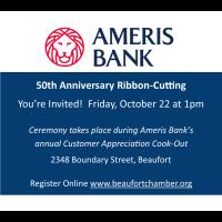 Ribbon-Cutting for Ameris Bank 50th Anniversary