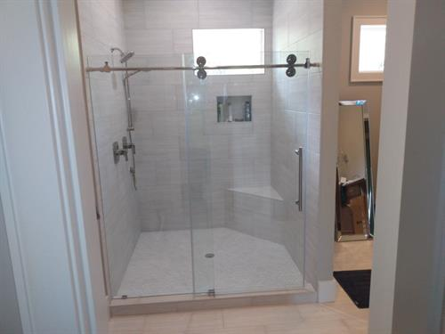Installing shower glass doors