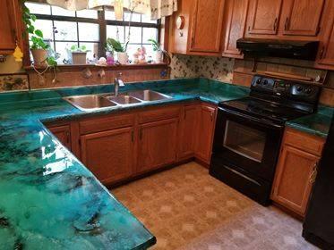 Custom Epoxy kitchen countertops