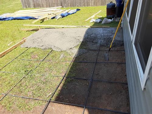 Building an extension to a concrete patio