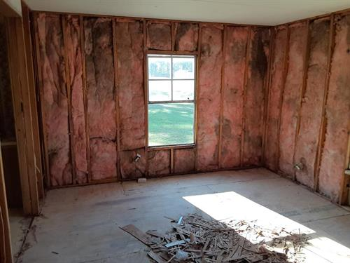 Removing old walls & replacing with new