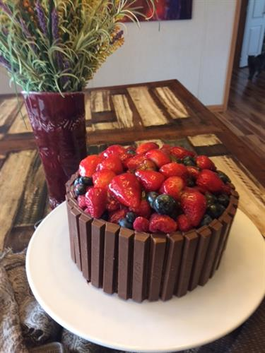 Berry Basket Cake-Layered cake
