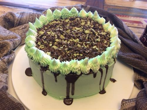 Cherokee Chocolate Mint Cake-Layered cake