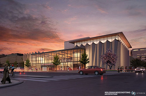 When completed, the Hamel Music Center on the UW-Madison campus will include a 315-seat recital hall, large rehearsal room and spacious lobby.