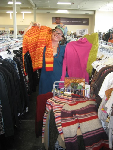Goodwill offers a HUGE selection of men's, women's, and children's clothing at low prices!