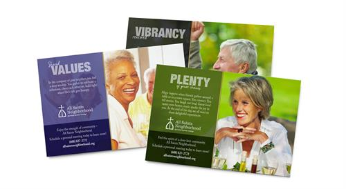 Direct Mail Campaign for All Saints Living