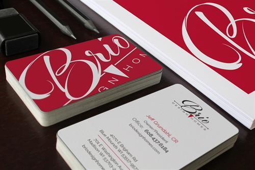 Business Card Design for Brio Design Homes