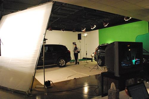 Car shoot in studio